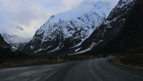 Road trip to milford sound fiord land national park new zealand stock video