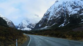 Road trip to milford sound fiord land national park new zealand. Road trip to milford  sound fiord land national park new zealand stock video footage