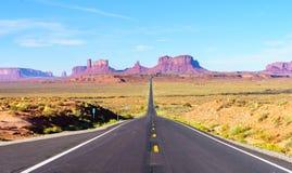 Road to heavens. Road trip to Monument Valley, Arizona, USA Stock Photos