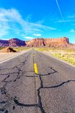 Road to heavens. Road trip to Monument Valley, Arizona, USA Royalty Free Stock Image