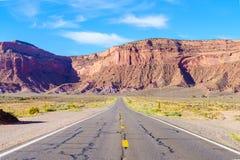 Road to heavens. Road trip to Monument Valley, Arizona, USA Stock Image