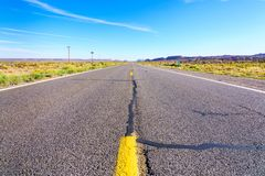 Road to heavens. Road trip to Monument Valley, Arizona, USA Stock Photography