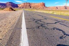 Road to heavens. Road trip to Monument Valley, Arizona, USA Royalty Free Stock Photo