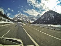 Highway through the mountains royalty free stock image