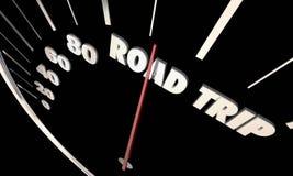 Road Trip Travel Vacation Transportation Speedometer Stock Photo