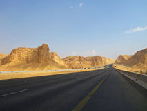 Road trough the Desert Royalty Free Stock Image