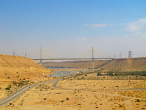 Road trough the Desert Stock Photo