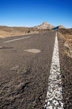 Road trough Teide Volcanic Park, in Tenerife, Canary Island, Spain. Stock Photos