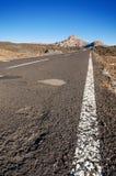 Road trough Teide Volcanic Park, in Tenerife, Canary Island, Spain. Stock Photos