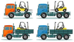 Road trucks, Vector Royalty Free Stock Photo