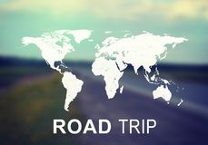 Road Ttrip header Royalty Free Stock Photos