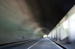 Road in tunnel Royalty Free Stock Photo