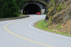 Road and tunnel stock photos