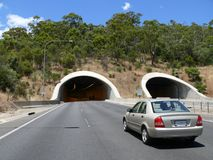 Road with tunnel. Stock Image