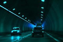 Road in tunnel Royalty Free Stock Photography