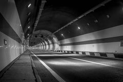 Road tunnel Stock Images