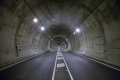 Road tunnel horizontal Stock Photography
