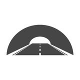 Road with tunnel icon. Vector icon vector illustration