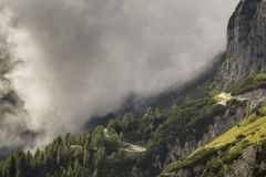 The road and tunnel in the Julian Alps Royalty Free Stock Photography