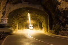 Road tunnel in Monte Carlo Royalty Free Stock Images