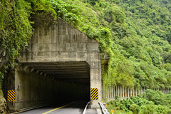 Road tunnel in mountain Royalty Free Stock Images