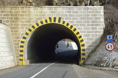 Road Tunnel - Mountain Tunnel Royalty Free Stock Photos