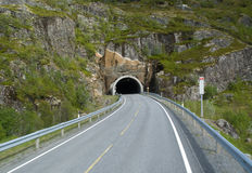 Road tunnel in norwegian mountains Royalty Free Stock Image