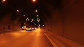 The Road Tunnel. And transportation video stock video footage