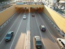 Road tunnel under bridge Royalty Free Stock Image