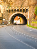 Road tunnel under Vysehrad Hill in Prague Royalty Free Stock Photography