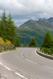 Road Turn in Mountains Royalty Free Stock Photos