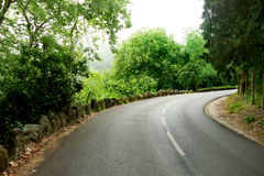Road turn in mountains Royalty Free Stock Photo