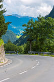 Road Turn in Mountains Stock Image