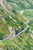 Road Turn in Mountains Stock Photography