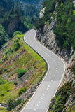 Road Turn in Mountains Royalty Free Stock Photography