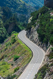 Road Turn in Mountains Stock Images