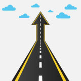 Road turning into an arrow up Royalty Free Stock Images