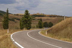 Road in Tuscany Royalty Free Stock Photography