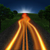 Road in twilight time Royalty Free Stock Photography