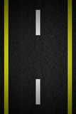 Road with two yellow Royalty Free Stock Photo
