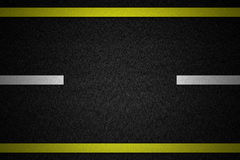 Road with two yellow Royalty Free Stock Photography