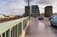Road through Tyne bridge Stock Photography