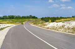 road in Ukraine Royalty Free Stock Images
