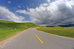 Road under blue sky Royalty Free Stock Photos