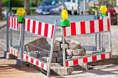 Road under construction Stock Photo