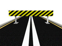 Road under construction. 3D image Royalty Free Stock Images