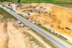 Road under construction Stock Photo
