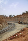 Road under construction. In Cameroon royalty free stock image