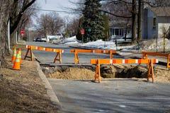 Road under construction. Repair at spring Stock Photos