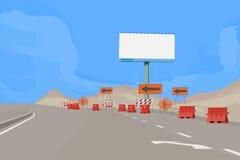 Road Under Construction Scene Stock Photography